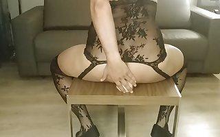 Big ass Latina riding a dildo