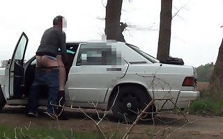 Fuckt on parking lot